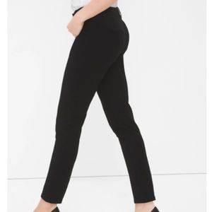 White House Black Market Slim Ankle Black Pants 2R